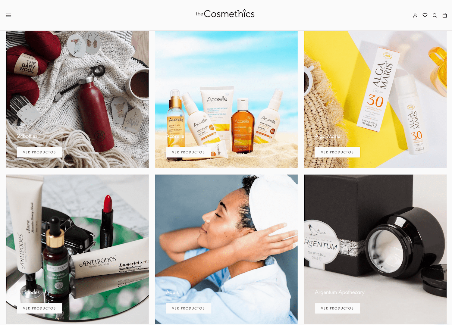 Tienda Shopify Cosmética theCosmethics by OHDIGITAL
