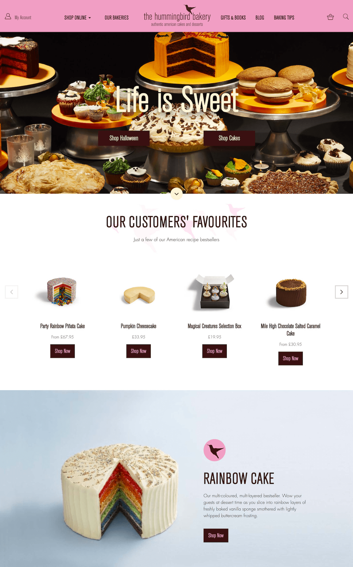 Hummingbird Bakery by Wemakewebsites