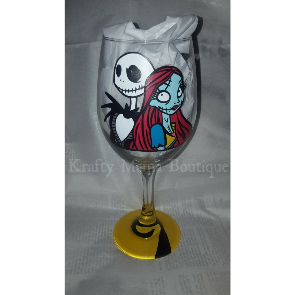Nightmare before Christmas Hand Painted Glassware – Krafty Mama Boutique