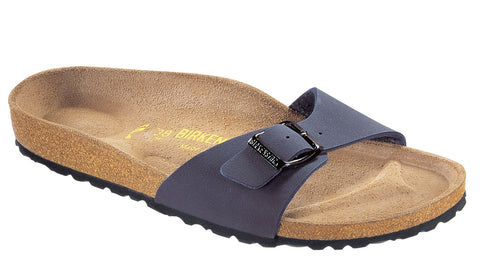 Birkenstock Women Madrid Birko-Flor® Sandals Navy Regular Fit - Alna Vi Shoes