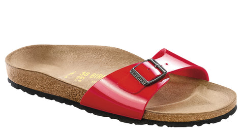 Birkenstock Women Madrid Birko-Flor® Sandals Tango Red Narrow Fit - Alna Vi Shoes