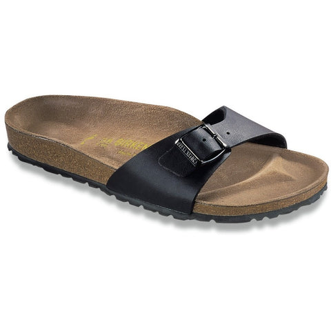 Birkenstock Women Madrid Birko-Flor® Black Sandals Regular Fit - Alna Vi Shoes