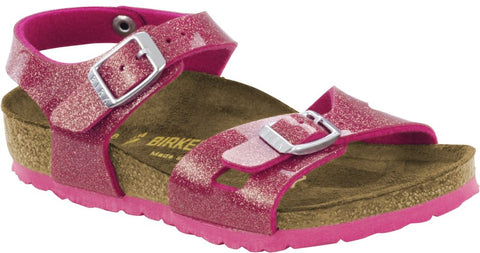 Birkenstock Girls Rio Birko-Flor® Sandal in Magic Galaxy Pink - Alna Vi Shoes