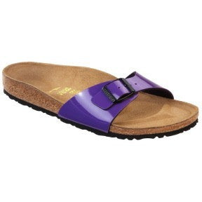 Birkenstock Women Madrid Lilac Patent Sandals - Alna Vi Shoes