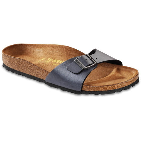 Birkenstock Women Madrid Birko-Flor® Ice Pearl Onyx Sandals - Alna Vi Shoes