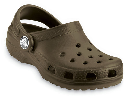 Crocs™ Kids Classic Cayman Clogs in Chocolate 10006 - Alna Vi Shoes