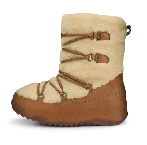 FitFlop™ Women Superblizz 165 179 Maple LEATHER Snow Winter Boots - Alna Vi Shoes