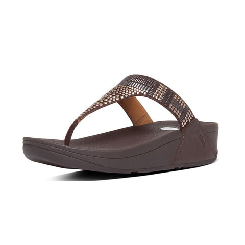 FitFlop™ Women Chada Aztek 359 LEATHER Flip Flops - Alna Vi Shoes