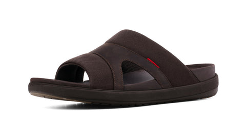 FitFlop™ Mens FreewayII Textile 488 030 Chocolate Textile Sandals
