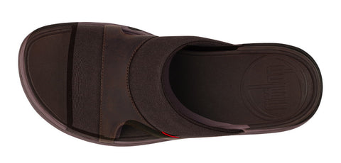 FitFlop™ Mens FreewayII Slide Sandals in Textile 488 - Alna Vi Shoes