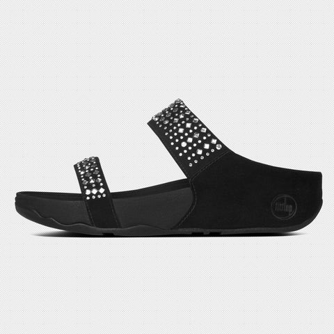 FitFlop™ Women Novy Slide 509 001 Black LEATHER Sandals - Alna Vi Shoes