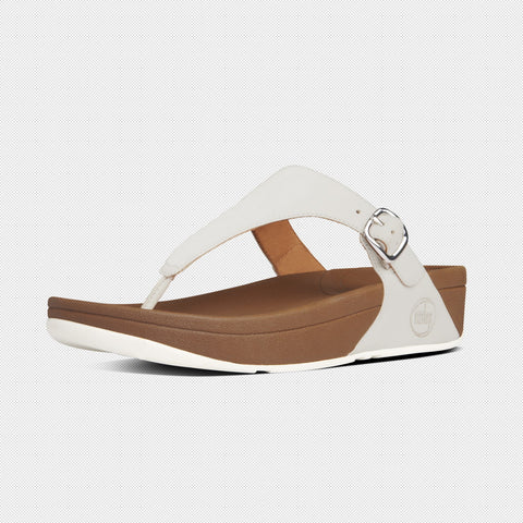 FitFlop? Women Skinny 549 194 Urban White LEATHER Flip Flops - Alna Vi Shoes
