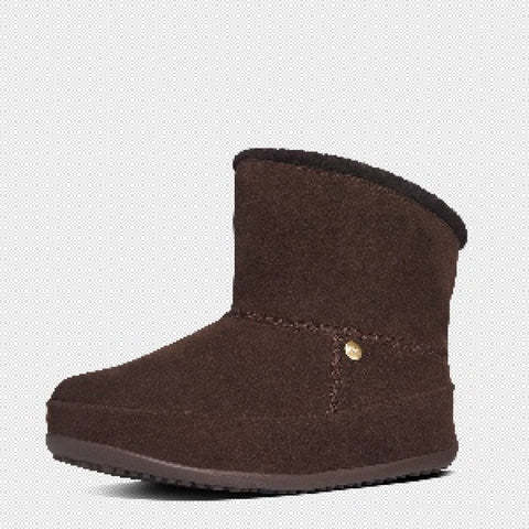 FitFlop? Women Mukluk Shorty 630 092 Dark Brown Suede Boots - Alna Vi Shoes