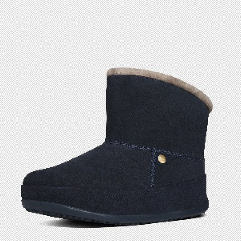 FitFlop? Women Mukluk Shorty 630 097 Supernavy Suede Boots - Alna Vi Shoes