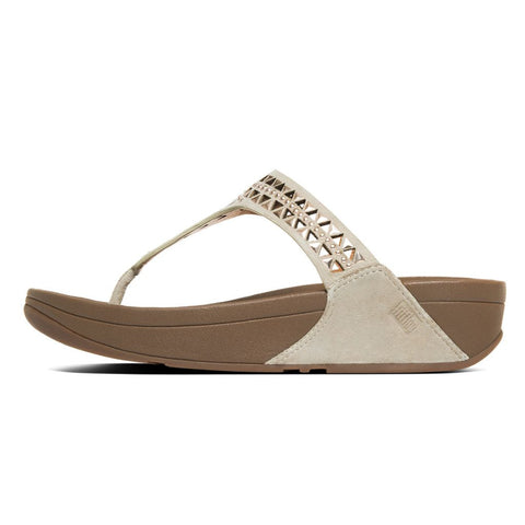 FitFlop™ Women Carmel Toepost 671 323 Rose Gold Suede Sandals - Alna Vi Shoes