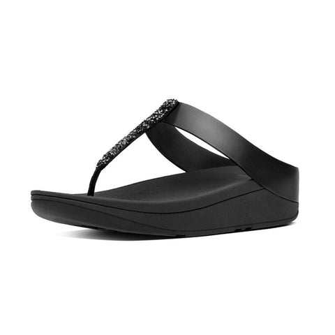 FitFlop™ Fino Toe-Post in Black C89001 - Alna Vi Shoes