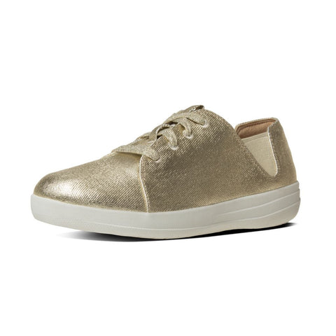 FitFlop? F-SPORTY Laceup Sneaker in Gold B61010 - Alna Vi Shoes