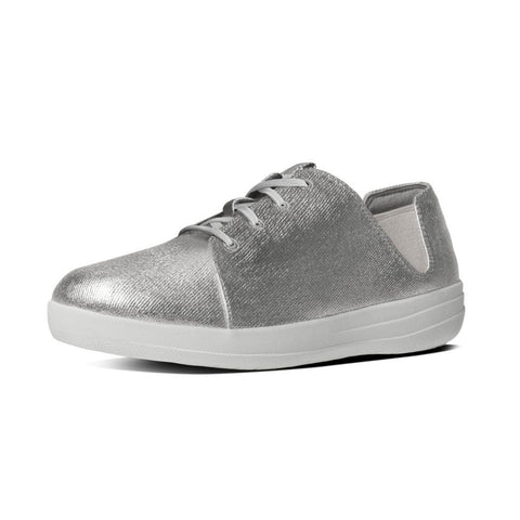FitFlop? F-SPORTY Laceup Sneaker in Silver B61011 - Alna Vi Shoes