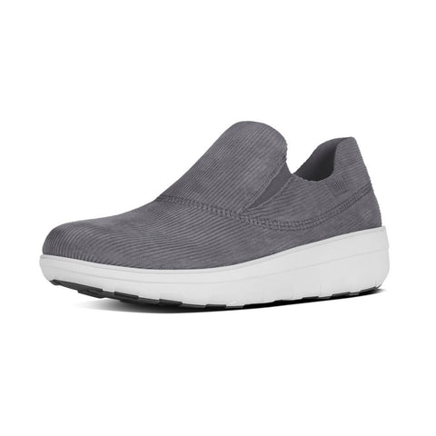 FitFlop™ Women Loaff Sporty Slipon B78 052 Charcoal Sneakers - Alna Vi Shoes