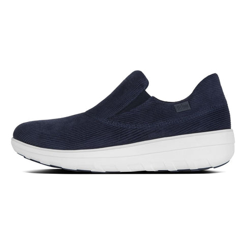 FitFlop™ Women Loaff Sporty Slipon B78 399 Midnmight Navy Sneakers - Alna Vi Shoes