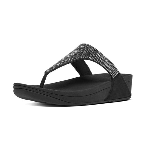 FitFlop? Slinky Rokkit Toe-Post in Black C65001 - Alna Vi Shoes