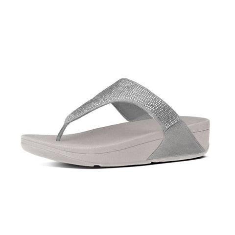 FitFlop? Slinky Rokkit Toe-Post in Silver C65011 - Alna Vi Shoes