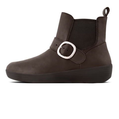 FitFlop™ Women Superbuckle Leather J67 LEATHER Boots - Alna Vi Shoes