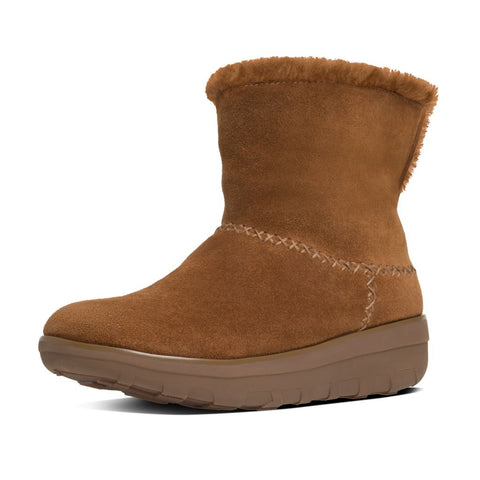 FitFlop™ Women Mukluk Shorty2 B96 047 Chestnut Suede Boots - Alna Vi Shoes
