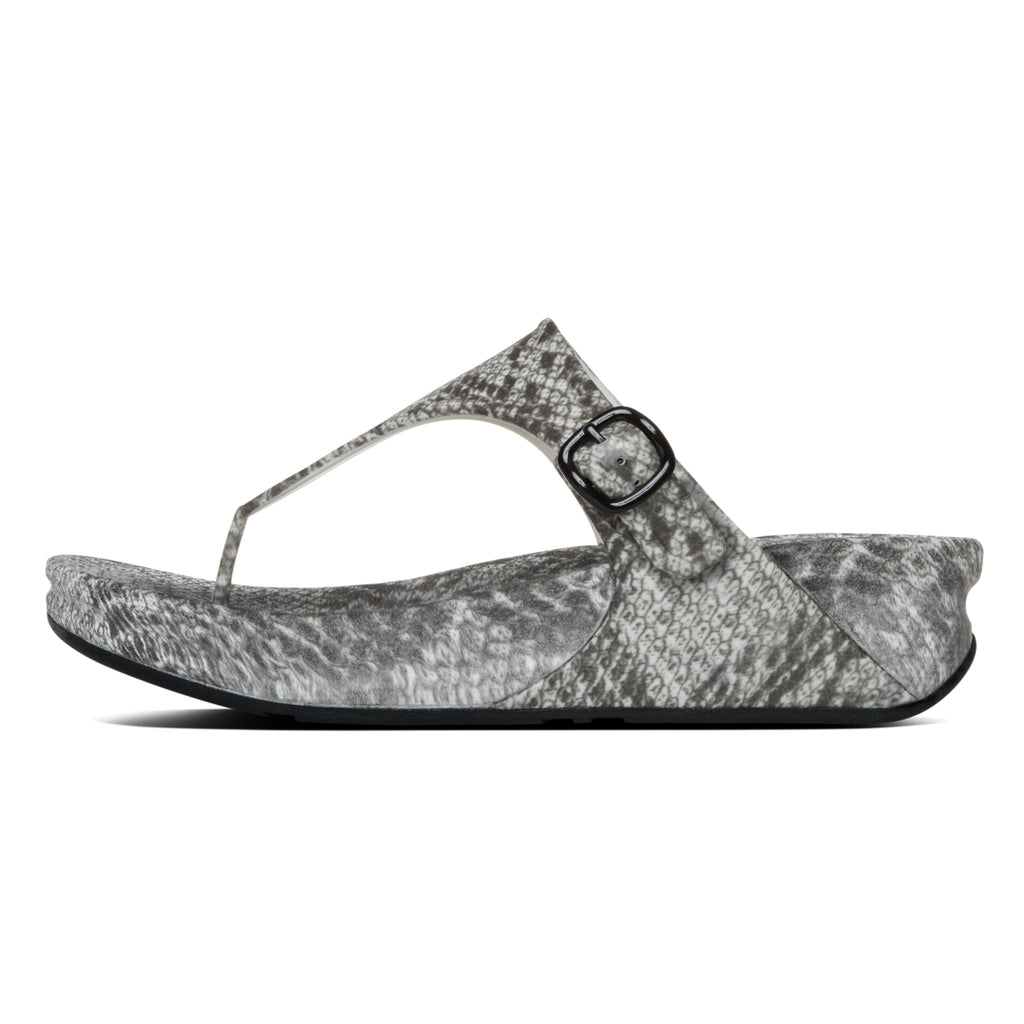 c77e0171bed6 FitFlop™ Women Superjelly Snake A88 042 Black White Rubber Sandals ...