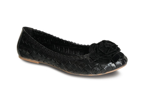Lunar Women FLH270 Black Flats - Alna Vi Shoes