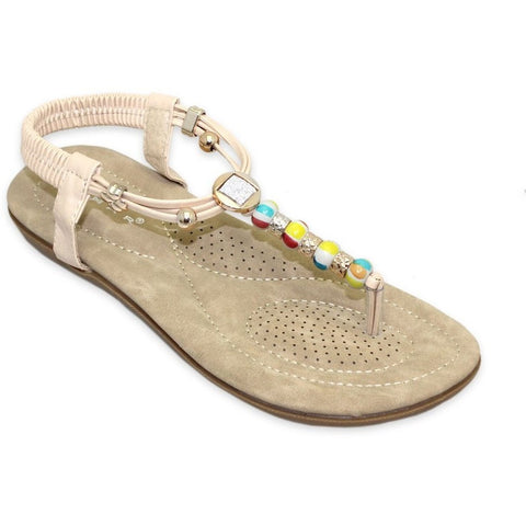 Lunar Women JLH708 Beech Bedded Sandals - Alna Vi Shoes
