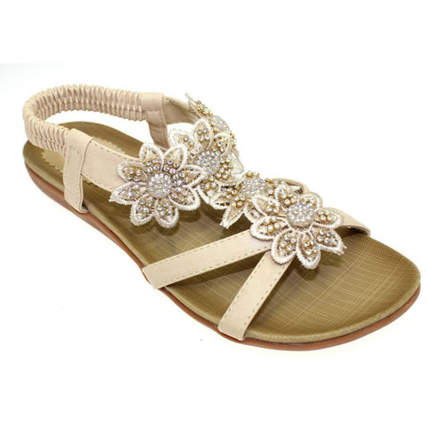 Lunar Women LH664 Fiji Beige PU Shoes - Alna Vi Shoes