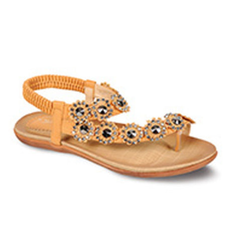 Lunar Women JLH601 Charlotte Tan PU Sandals - Alna Vi Shoes