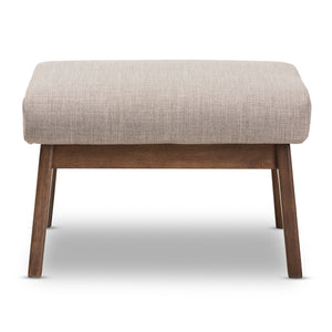 Baxton Studio Bianca Walnut Wood Light Grey Ottoman-Ottomans-HipModernHome