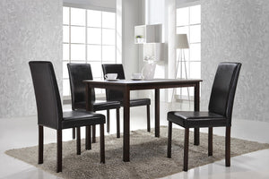 Baxton Studio Andrew 5-Piece Dining Set-Furniture Sets-HipModernHome