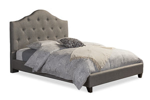 Baxton Studio Anica Grey King Size Platform Bed-Beds-HipModernHome
