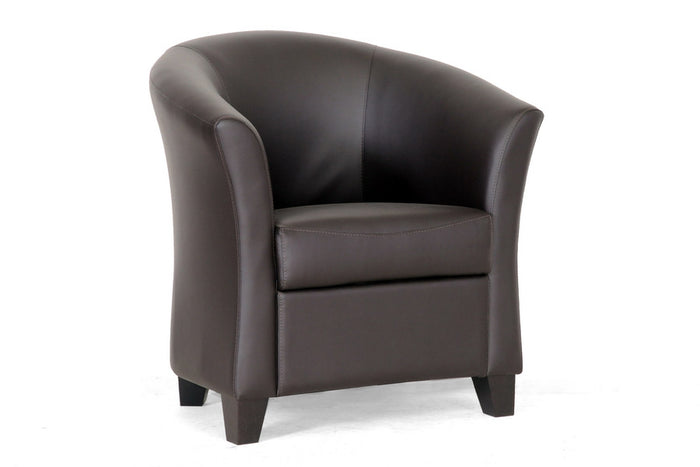 Baxton Studio Anderson Modern Brown Club Chair