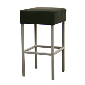 Baxton Studio Andante Black Faux Leather Counter Stool-Bar Stools-HipModernHome