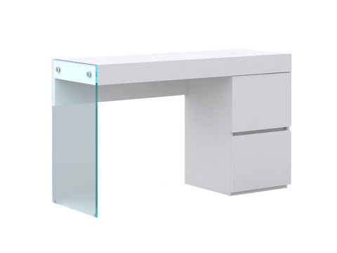 Casabianca IL VETRO High Gloss White Lacquer Office Desk - CB-111-DESK-Office Desks-HipModernHome