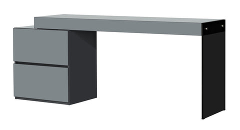 Casabianca IL VETRO High Gloss Gray Lacquer Office Desk-Office Desks-HipModernHome.com