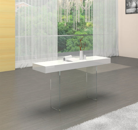 Casabianca IL VETRO High Gloss White Lacquer Console Table-Console Tables-HipModernHome.com