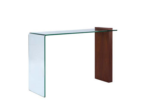 Casabianca BUONO Walnut Veneer w Glass Console Table - CB-1154-CONSOLE-WAL-Console Tables-HipModernHome