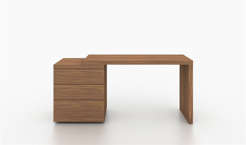 Casabianca NEST Walnut Veneer Office Desk-Office Desks-HipModernHome.com