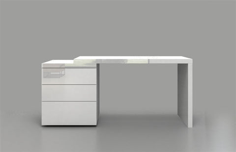 Casabianca NEST High Gloss White Lacquer Office Desk-Office Desks-HipModernHome.com