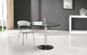 Casabianca FORTE Chrome / Clear Glass Dining Table - CB-T016-Dining Tables-HipModernHome