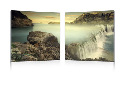 Baxton Studio Unbridled Power Mounted Photography Print Diptych-Wall Decorations-HipModernHome
