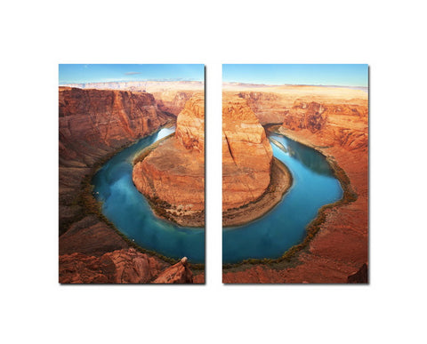 Baxton Studio Wraparound Waterway #1 Mounted Photography Print Diptych-Wall Decorations-HipModernHome