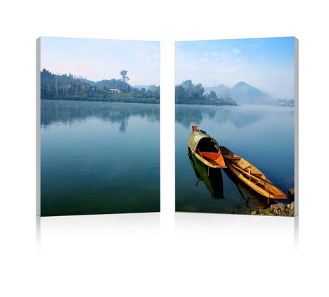 Baxton Studio Traditional Travel Mounted Photography Print Diptych-Wall Decorations-HipModernHome