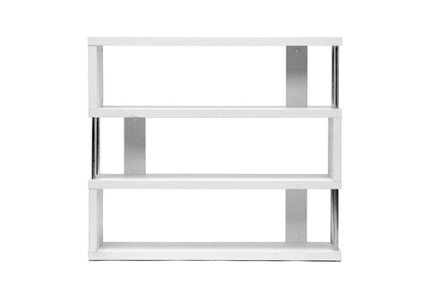 Baxton Studio Barnes White Three-Shelf Modern Bookcase-Bookcases-HipModernHome