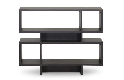 Baxton Studio Cassidy 4-Level Dark Brown Modern Bookshelf